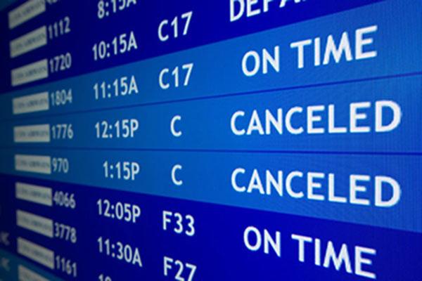volo cancellato
